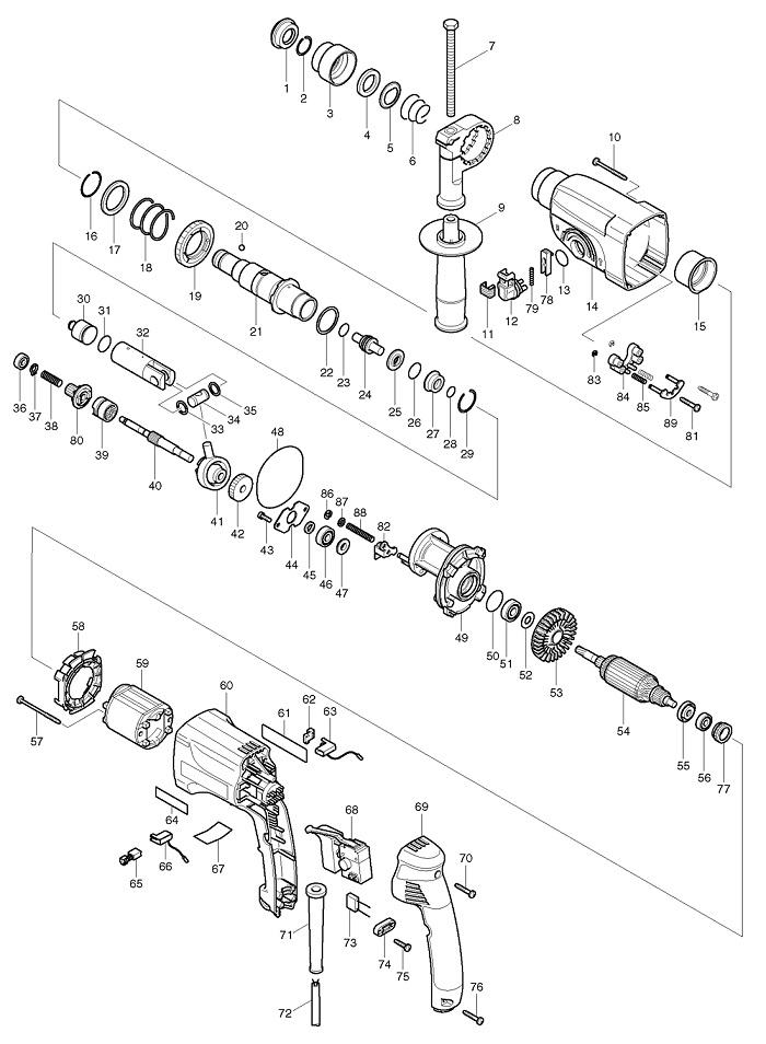 Как отремонтировать перфоратор макита 2450 и 2470 своими руками.
